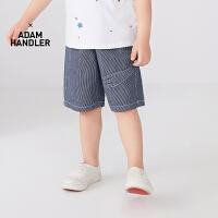 【秒杀价:135元】马拉丁童装男小童裤子2020夏装新款贴布设计百搭宽松棉布中裤