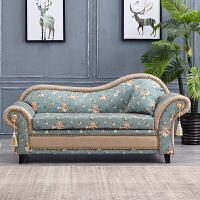 欧式田园贵妃椅 韩式布艺沙发小户型客厅双人沙发躺椅美人塌