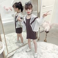 女孩蝙蝠袖防晒衣夏2019新款儿童洋气连帽薄款外套女童空调衫