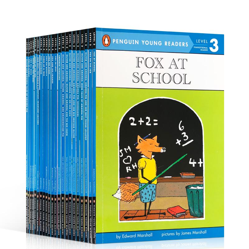 英文原版 Penguin Young Readers Level 3 系列全套23本 汪培珽第三阶段读物 英文课外读物6-7-8岁 PYR3 Fox on Wheels