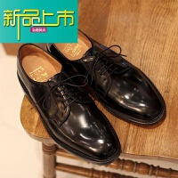 新品上市夏季休闲英伦鞋商务舒适皮鞋男士日常绅士青年百搭增高皮鞋潮 黑色