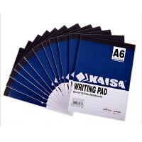 凯萨(KAISA) A6拍纸本(60页/12本装)70g纸(148*105mm)横线本 美式笔记本 学生本 办公记事本