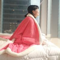 毛毯被子加厚冬季双层仿羊羔绒保暖珊瑚绒男女床单人宿舍法兰绒毯子k