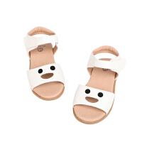 【秒杀价:135元】马拉丁童鞋女童鞋子2020夏季新款白色洋气舒适儿童小皮鞋凉鞋