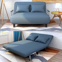 沙发床客厅时尚沙发床可折叠客厅多功能折叠沙发单双人卧室小沙发懒人沙发小户型创意简约 玫红色 (190*150*26 c