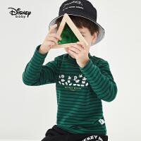 【2件3折:41.7元】迪士尼男童秋装打底衫2020春秋宝宝儿童米奇洋气长袖T恤上衣