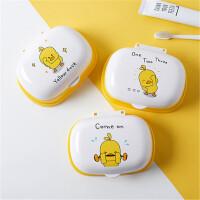 萌味 卡通皂盒 儿童肥皂盒创意个性带盖可爱香皂盒卫生间沥水收纳盒家用卡通皂托
