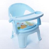 儿童吃饭座椅宝宝餐椅矮的1-2-3-6岁安全家用小孩椅子塑料靠背喂 新坐垫 浅蓝色+可拆卸餐盘