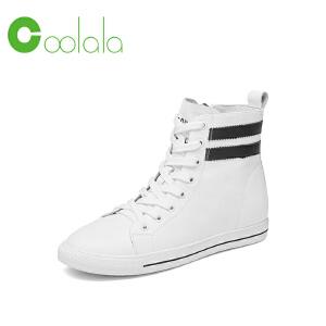 红蜻蜓旗下品牌COOLALA女鞋秋冬休闲鞋板鞋女鞋子高帮鞋HTB6815