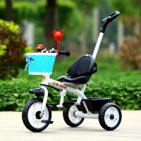 儿童三轮车脚踏车1-3-5岁大号宝宝轻便手推车带音乐童车自行车溜娃车