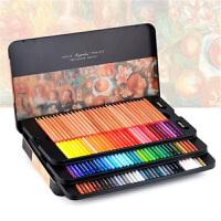 马可雷诺阿彩铅专业油性彩色铅笔48 100色水溶彩铅款 美术绘画彩色笔 水溶性彩铅铁盒装72色手绘套装