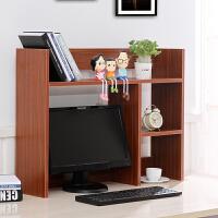 小书架电脑桌上书架桌面书柜儿童简易置物架办公收纳架