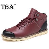 时尚男靴子短靴高帮工装靴男英伦马丁靴男真皮短筒军靴男潮靴8072