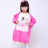儿童罩衣长袖宝宝吃饭罩衣反穿衣防水儿童围裙画画衣