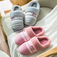 家居棉拖鞋女冬季情侣室内保暖家用加厚棉拖男士舒适厚底