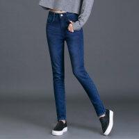 新年特惠加绒牛仔裤女高腰小脚弹力冬季外穿韩版显瘦2019新款保暖长裤加厚