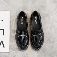 平底单鞋女新款秋季韩版学生鞋英伦风小皮鞋大码女鞋