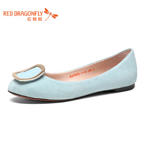 红蜻蜓女鞋秋冬皮鞋鞋子女WGB7080