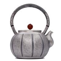 银壶日本银茶壶茶具烧水壶茶壶茶具 金瓜银壶纯银茶壶纯手工烧水壶 纯银功夫茶具 银壶纯银