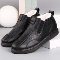 老北京布鞋冬季加厚保暖羊毛鞋老人棉鞋防水轻便舒适爸爸鞋