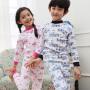 彩桥童装儿童内衣套装纯棉男童女童棉毛衫中大童学生睡衣打底内衣秋冬季新款