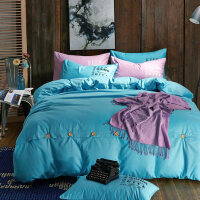 床上四件套棉1.8/2.0m床简约双人床单三件套学生宿舍单人男k