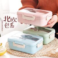 保温饭盒微波炉加热便当盒食堂分格餐盒简约点心盒
