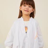 【2件2.5折:109元】马拉丁童装女童风衣秋装新款气质花苞廓形设计儿童外套洋气