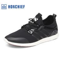 红蜻蜓旗下品牌HONCHIEF春秋新款时尚潮流织物男士运动休闲时尚男鞋子