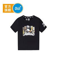 【下单立减】361度童装 男童T恤2019夏季新品中大童短袖上衣功夫熊猫IP款