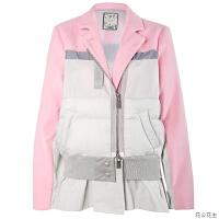 粉色轻薄羽绒服女2018新款中长款时尚欧货修身秋冬季90白鸭绒外套 X