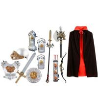 铠甲勇士盔甲套装 万圣节儿童表演服 儿童盔甲套装 铠甲勇士道具 头盔玩具盾牌
