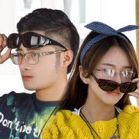 男女近视太阳镜 套镜 夹片 偏光墨镜 防尘防眩光司机眼镜 情侣款