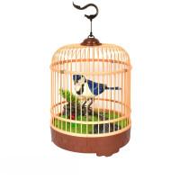 会说话的鹦鹉 仿真声控小鸟电动感应鹦鹉会叫会动宠物鸟笼儿童玩具