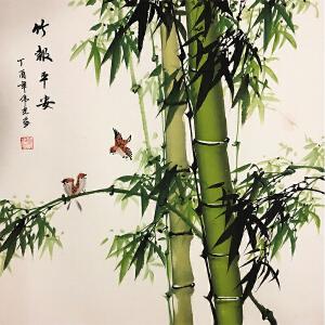 夏伟光《竹报平安》著名画家