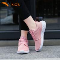 安踏儿童运动鞋女童鞋子2019新款夏款12中大男童15岁网面透气跑鞋