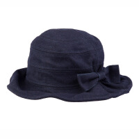 新款帽子女士 英伦圆顶帽 礼帽女盆帽渔夫布帽可爱时尚帽
