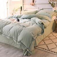 冬季磨毛四件套棉加厚保暖床单被套1.8m米床公主风简约纯色y
