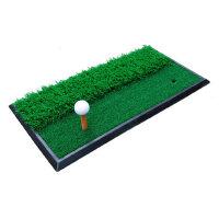 休闲户外运动高尔夫挥杆练习器 长短草打击垫 挥切双用垫