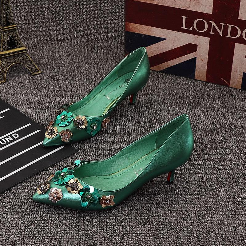 真皮女鞋高跟鞋36码福袋