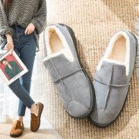 新款秋冬雪地靴女韩版保暖冬加绒高中学生平底短靴棉鞋面包鞋子女
