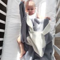 夏季薄款婴儿针织毛线宝宝盖小毛毯子空调被子四季通用婴儿盖毯