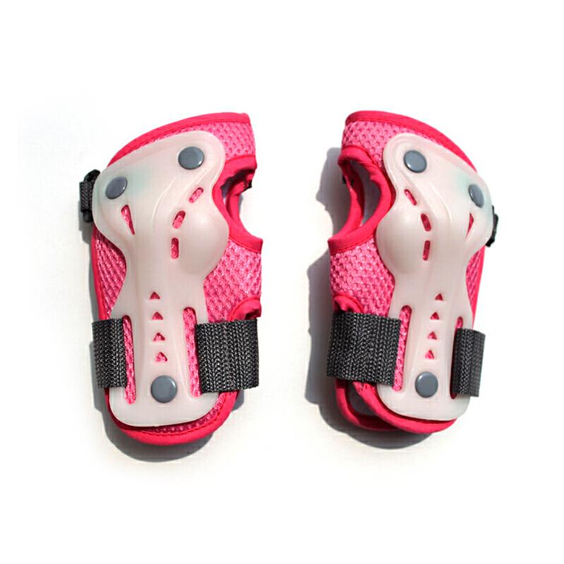 儿童轮滑护具全套荧光夜光加厚套装溜冰旱冰滑冰鞋滑板自行车护膝