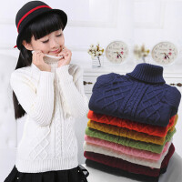 男童毛衣3-15岁高领小孩女童打底衫12儿童中童大童针织衫春秋冬季