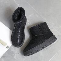 雪地靴女短筒英伦风2018新款韩版冬平底百搭网红同款加绒保暖靴子