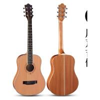 旅行吉他36寸民谣吉他初学者学生女男儿童便携电箱单板吉他