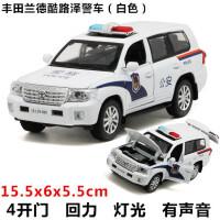 合金车模型 兰博基尼宝马仿真警车儿童玩具车声音灯光回力汽车