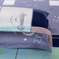 a可爱粉色枕巾枕头套子大号单件涤纶�b��头套加大 48cmX74cm枕套不含芯