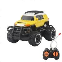 遥控小汽车迷你版 儿童玩具车男孩电动越野车赛车4通无线遥控小型