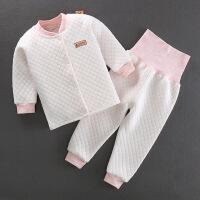 秋冬男宝保暖内衣套装0一1-2-3岁宝宝女童婴幼儿加厚开档夹棉